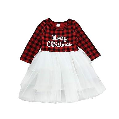 MYONA Disfraz de Navidad Bebé, Vestido de Tul para Recien Nacido ...