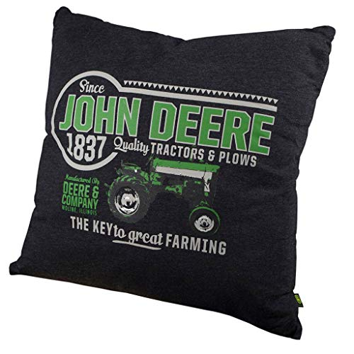John Deere Tractors and Plows Throw Pillow ()
