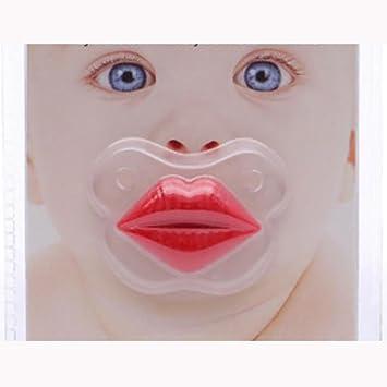 SHYI Chupete de bebé Gracioso Labios adorables 0-18 Meses ...
