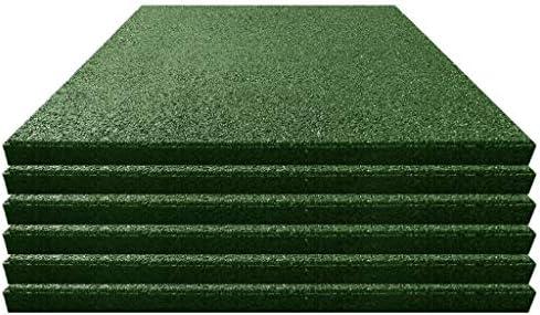 UnfadeMemory Losetas para Suelo de Goma para Interior o Exterior,Protección contra Caídas para Jardin,Pasillos,Patios y Parques Infantiles,Resistente al Deslizamiento,50x50x3cm (Verde, 6uds): Amazon.es: Hogar