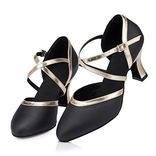 YFF Geschenke Frauen Dance Shoes Ballroom Latin Dance Tango Tanz Shoes,Black,41