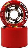Sure Grip Red 93A Power Plus Quad Indoor Roller Derby Speed Skate Wheels 8 Pack
