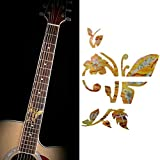 Fretboard Markers Inlay Sticker Butterfly Shape Decals For Acoustic Guitar And Electic Guitar Gold