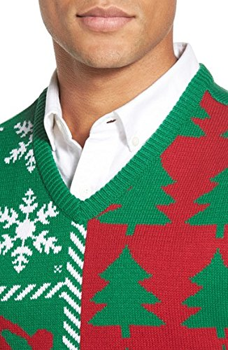 Ugly Christmas Sweater Mens Holiday Sweater Vest Large Amazonca