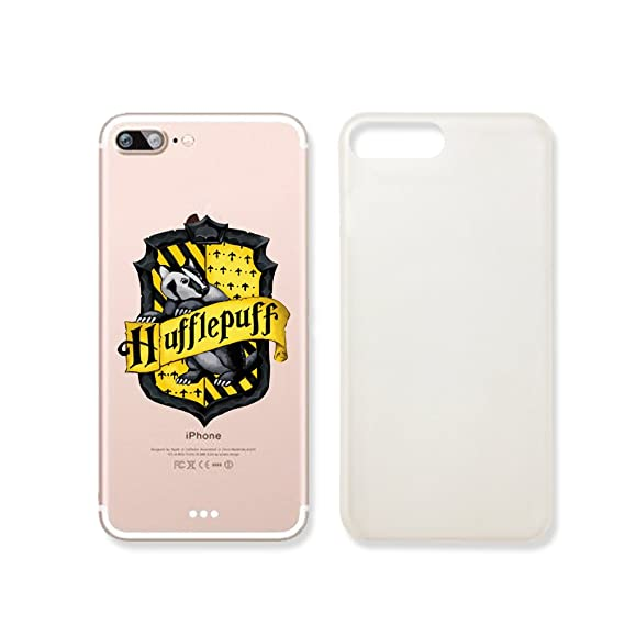 finest selection 8ca44 7c50a Amazon.com: Hufflepuff Logo Clear Transparent Plastic Phone Case for ...