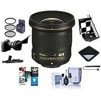 Nikon 20mm f/1.8G AF-S ED NIKKOR Lens - U.S.A. Warranty - Bundle with 77mm UV (WA) Filter, 77mm CPL Filter, Cleaning Kit, Lens Wrap (15x15), Cap Leash, LensPen Lens Cleaner, Software Package