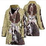 Mamazz Cute English Springer Spaniel Print Women's Bath Robe 7