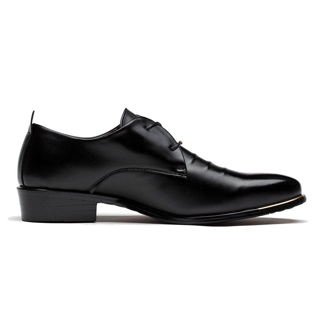 Blivener Men's Pointed Toe Classic Oxford Formal Business Dress Shoes Black US 8.5 by Blivener (Image #3)
