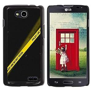 Be Good Phone Accessory // Dura Cáscara cubierta Protectora Caso Carcasa Funda de Protección para LG OPTIMUS L90 / D415 // Police Yellow Black Line Crime Scene