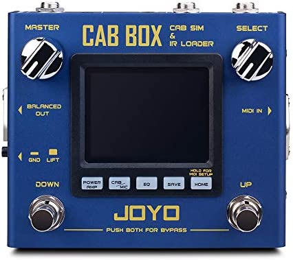 JOYO R-08 CAB BOX Multi Effect Pedal for Electric Guitar AMP Pedal Effect Support IR Loading 4 Tube Power Amp Simulations 20 Cabinet Models 11 Classic Microphone Models
