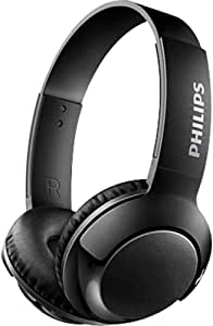 Philips SHB3075BK Bass+ Wireless Headphone with Microphone, Medium