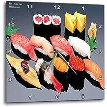 Rick London Fine Art Sushi Gifts - Various Sushi Dish - 10x10 Wall Clock (dpp_19900_1)