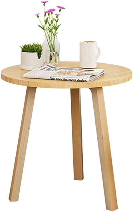 Amazon Com Hslxd Smzz Solid Wood Sofa Table Nordic Style Living Room Coffee Table Simple Round Table Decoration Side Table Corner Table Small Apartment Furniture Woodcolor Kitchen Dining