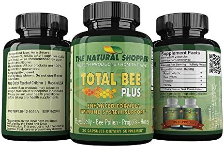 Royal Jelly, Bee Pollen, Propolis and Honey in Total Bee Plus - weight loss / immune supplement