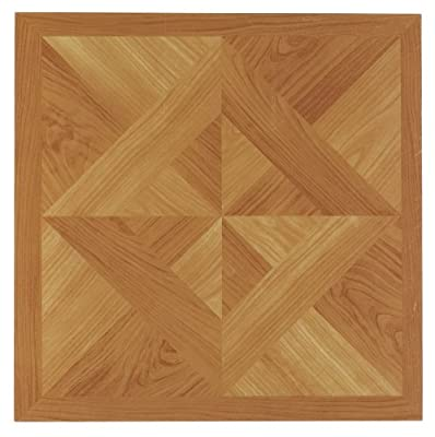 Achim Home Furnishings FTVWD20220 Nexus 12-Inch Vinyl Tile, Wood Classic Light Oak Diamond Parquet, 20-Pack by Achim Imports (Home Improvement)