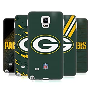 Official NFL Green Bay Packers Logo Soft Gel Case for Samsung Galaxy Note 4