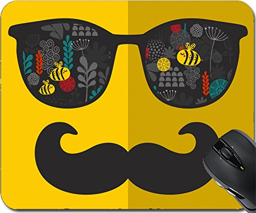 MSD Natural Rubber Mousepad Mouse Pads/Mat design: 31108118 Retro sunglasses with reflection for hipster Vector illustration of accessory glasses isolated Best print for your t - Sunglasses Ma