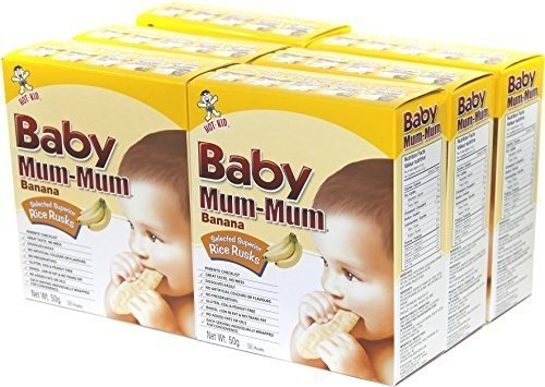 Hot Kid Baby Mum-Mum Banana Flavor Rice Biscuit, 1.76-Ounce Packages (Pack of 6) ( Value Bulk Multi-pack) by Hot Kid (Image #1)