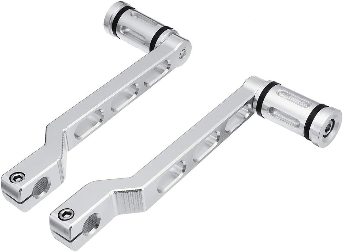 CHIMAKA Chrome Edge Cut Fersen- Zehenschalthebel mit Schaltn/ägeln f/ür Harley Touring Softail Motorrad Neuteile Teile