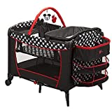 Disney Baby, Infant Play Yard, Play Pen With Changing Station (Mickey Silouette)