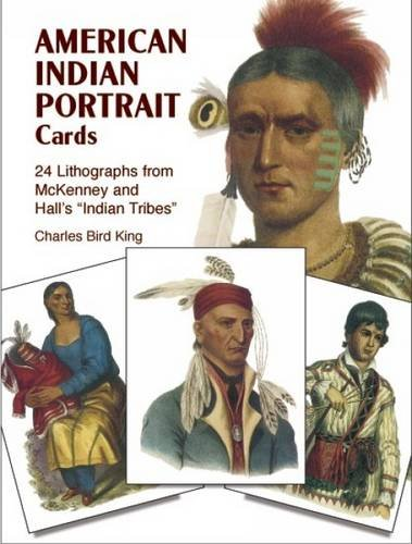 Native American Lithographs - American Indian Portrait Cards: 24 Lithographs from McKenney and Hall's
