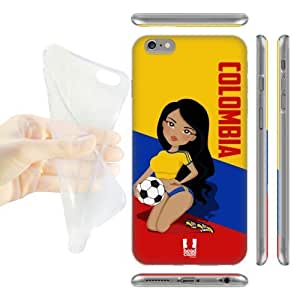 DIY Case Designs Colombia Football Pin-ups Soft Gel Back Case Cover for Apple iPhone 6 Plus 5.5 by ruishername