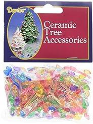 """Ceramic Christmas Tree Bulb .25"""" 250/Pkg-Mini Flame-"""