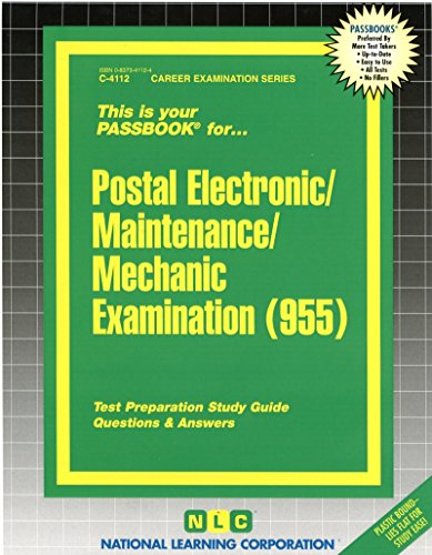 Postal Electronic/Maintenance/Mechanic Examination(Passbooks)