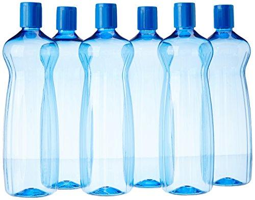 .Princeware Aster Pet Fridge Bottle Set, 975ml, Set of 6, Blue