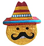 Pinatas Large Mexican Emoji, Fiesta Party Game, Decoration and Photo Prop for Cinco de Mayo, San Antonio Fiesta Week or Fiesta Themed Birthdays and Events, 22'' H