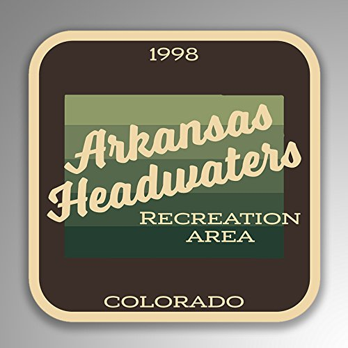 JMM Industries Arkansas Headwaters Recreation Area Colorado Vinyl Decal Sticker Retro Vintage Look 2-Pack 4-inches by 4-inches Premium Quality UV Protective Laminate SPS014
