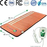 Infrared Heating Pad - Aid Chronic Pain Relief, Arthritis - Negative Ion - FIR Heat - FDA Registered Manufacturer - Adjustable Temperature Setting - Hot Stone Heating Mat (TAO - 80