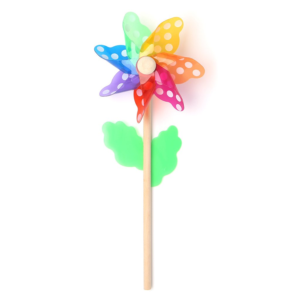 Peachshop 4.7'' Rainbow Windmill Pinwheel For Kids Adults Outdoor Garden Picnic Photograph Decoration