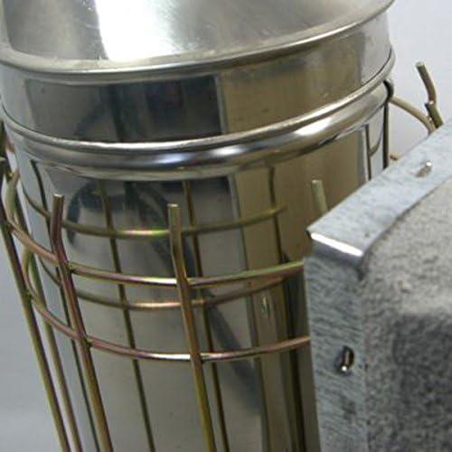 REFURBISHHOUSE/Paquet doutil dapiculture Fumoir en acier inoxydable,Outil Ruche rouge /& Brosse dabeille