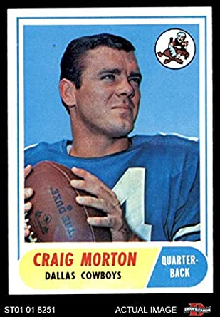 e2f6336a Amazon.com: 1968 Topps # 155 Craig Morton Dallas Cowboys (Football ...