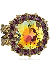 "Sorrelli ""Volcano"" Crystal Cushion Ring"