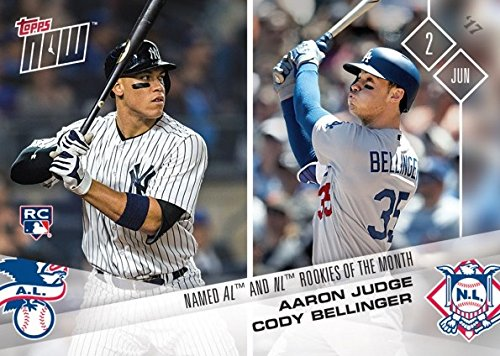 2017 Topps Now Baseball #207 Aaron Judge / Cody Bellinger Rookie Card - Only 1,751 made!