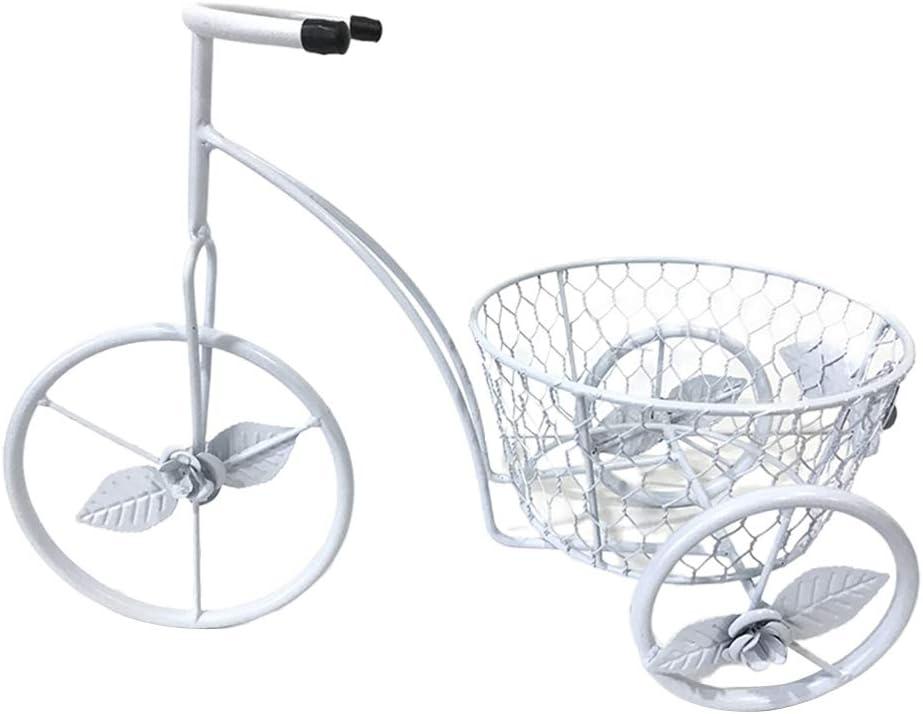 yangxiao01 Hierro Forjado Bicicleta Soporte de Flor,Interior Estantería de Flores de Pie,Balcón Estante Maceta Estante de Almacenamiento,Adecuado para Los Amantes del Jardín Casa