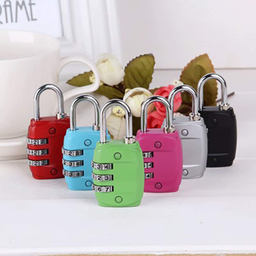 Set-Your-Own Combination Lock for Suitcases Luggage Travel Lock Bags and Gym Lockers styleinside 3 Digit Combination Padlock