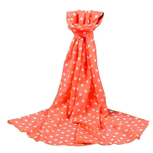 Women Polka Dot silk scarfs and