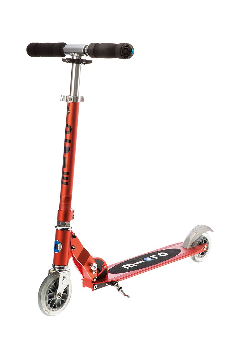 Micro Sprite 2-Wheeled, Smooth-Gliding, Foldable Micro Scooter for Kids, Ages 8 to Adult - Red by Micro