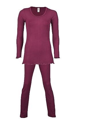 the latest 51b4c 417f2 Engel Damen Pyjama/Schlafanzug, Natur, Wolle (kbT) und Seide