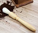 Ke&Ly Coffee Grinder Cleaning Brush, Heavy Wood Handle & Natural...