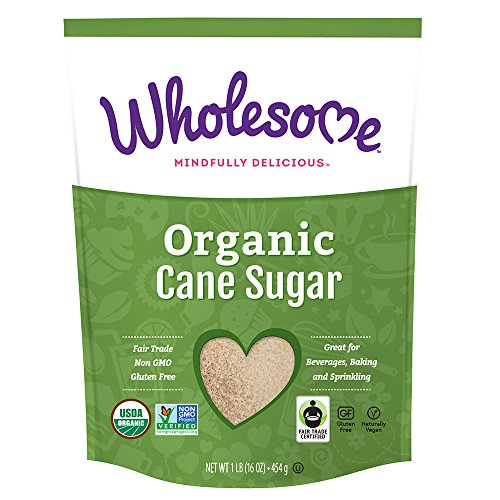 Wholesome Sweeteners, Organic Cane Sugar, 16 Ounce, 12 Pack