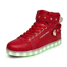 CapriccioSu LED Light Up Shoes Women Men High Top Christmas Fashion Snakers Party Flashing Snakers