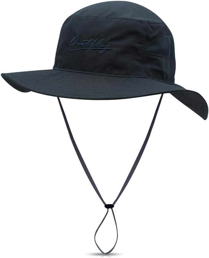 Lanly Sonnenhut Herren Damen Safari Hut UV Schutz Faltbar Wanderhut Gartenhut Wasserdicht Outdoor M/ütze Fischerhut Buschhut