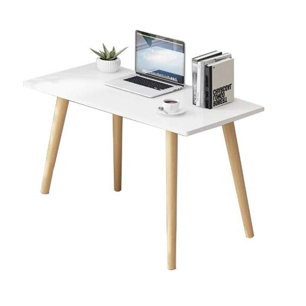 QULONG Nordic Solid Wood Desk, Home Student Simple Writing Desk, Simple  Modern Bedroom Computer Desk, Small Apartment Multifunctional Storage Table
