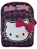 """Hello Kitty 16"""" Backpack, Navy Blue with Pink Bow"""