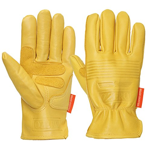CoCocina Motorcycle Leather Yellow Motorbike Winter Sport Racing Gloves S M L XL - S