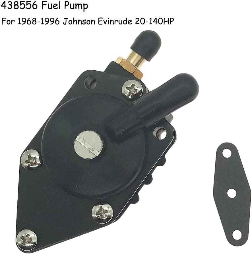 438556 Fuel Pump with Gasket for Johnson Evinrude 20-140HP Replaces 433387 Sierra Marine 18-7352